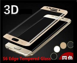 Argentina Samsung Galaxy S6 Edge plus cubierta completa protector de pantalla de vidrio templado curvado 0.2MM 9H 2.5D a prueba de explosiones con caja de madera DHL gratuito Suministro