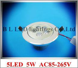 Wholesale 5led 5w - LED recessed ceiling spot light LED down light LED ceiling light 5LED 5X1W 5W AC85-265V 450lm 110mm*65mm aluminum CE ROHS