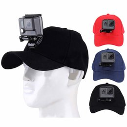 Wholesale Canvas Mounting - PULUZ for Sport camera Accessories Canvas Baseball Hat Cap W  J-Hook Buckle Mount Screw for Action Camera HERO5 HERO4 Session HERO