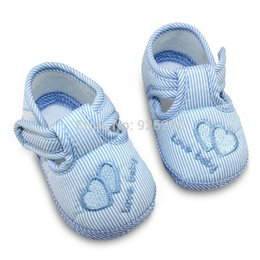 Wholesale Infant Pink Canvas Shoes - New Cotton Lovely Baby Shoes Toddler Unisex Soft Sole Skid-proof 0-12 Months Kids infant Shoes 3 Colors