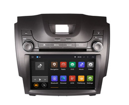 Chevrolet navegación con pantalla táctil online-Android 7.1 Car DVD Player para Chevrolet S10 2013 con GPS Navigation Radio BT USB AUX Audio Video Stereo WIFI 4Core 1024 * 600