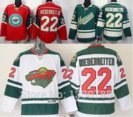 Wholesale Cheap Wild Hockey Jerseys - 2016 New, Cheap Minnesota Wild Jersey 2015, #22 Nino Niederreiter MN Wild Jersey Red Home White Road Green Alternate Sports Hockey Jer