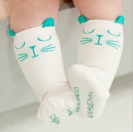 Wholesale Cute Animal Socks - 2015 New Design Baby Socks Cute Cat Candy Color Cotton Socks 0-4T 201506