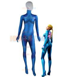 Wholesale Kids Hero Halloween Costumes Girls - 2015 The Newest Samus Aran Zero Suit 3D Printing Morph Girl Costume Halloween Cosplay Costumes For Women Hot Sale Free Shipping