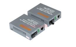 Wholesale Fiber Modes - Wholesale-Fiber Optical Media Converter 10 100Mbps RJ45 Single mode SC Port 25KM Media converter HTB-3100A B 1Pair