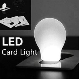 Wholesale Led Pocket Credit Card Wallet - LED Credit Card Light Portable Wallet Card Light Pocket LED Card Night Light Lamp put in Purse Wallet Portable New Novelty LED Night Light A