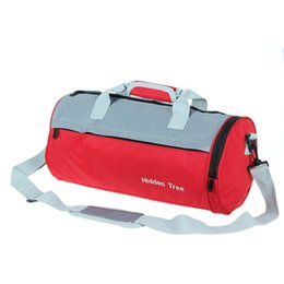 Wholesale Womens Cross Body Handbag - Wholesale-New Fashion Cylinder Gym Sport Duffle Travel Bag Handbag Mens Womens Messenger Fitness Sports Bag