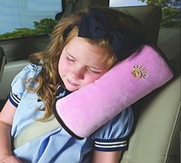 Wholesale Cute Sleep Sets - Car seat belt shoulder pad sets, neck pillow protective cover, car cartoon cute plush pillow to sleep can 39-1B \ 587