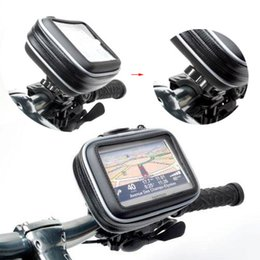 Wholesale Waterproof Gps Motorcycle Mount - S5Q GPS waterproof Case Motorcycle Bike Waterproof Case Bag + Mount Holder For Garmin GPS Navigator New AAAAPQ
