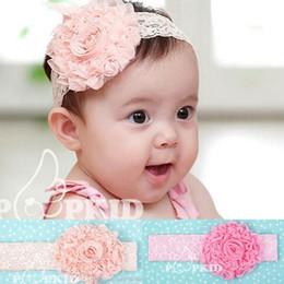 Wholesale Toddler Headbands Big Flowers - ArielBaby 22pcs Big Flowers Bud Silk Lace Newborn Infant Toddler Girls Baby Kids Headbands Hairbands Head Band Hair Bands