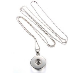 Wholesale Alloy Findings - 20pcs lot DIY Alloy snap pendant necklace jewelry finding accessories fit for alloy buttons