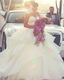 Vestidos de novia largos del amor 2015 cristalino de la organza Vestido De Noiva vestido de bola blanco vestido de novia de la boda nueva llegada desde fabricantes