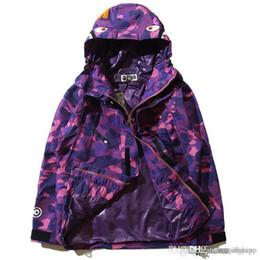 Wholesale Japanese Coat Brands - Men's Camouflage Men's Hoodies Windbreaker Hoodies Fashion Cardigan Leisure Coat Popular Brand Japanese Lapel Thin Hoodies Sizes M