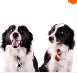 Wholesale Wholesale Handmade Dog Collars - New multicolor Handmade Adjustable Dog Ties Collars Pet Bow Ties Cat Neckties Dog Grooming Supplies