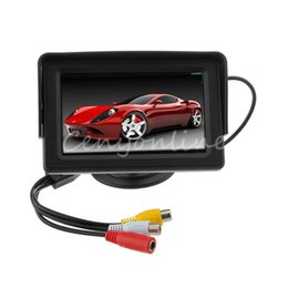 Wholesale Auto Dvd Monitor - 4.3 Inch Color TFT LCD Digital CCTV Car Auto Rearview Backup Security Pack Packing Monitor Screen Reverse Camera Kit DVD VCR GPS A3*