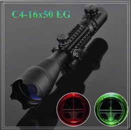 Wholesale Night Vision Telescopic - Telescopic sight 4-16x50EG Red Green Dot Reflex Sight r gun sight riflescopes LLL night vision scopes for hunting FreeShipping A2