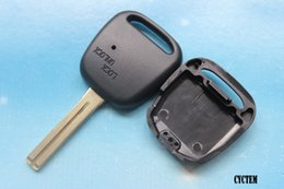 Wholesale Car Key Remote Replacement Toyota - CYCTEM Car Key Cover Replacement Flip Remote Key Blank Case Fit For Toyota With 1 Hole On The Side + Free Shipping