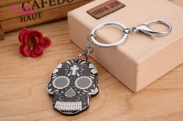 Wholesale Wholesaler Bags - Skull head with New KeyChain Pendant Purse Bag Car Key Chain ring New Fashion Lover Gift Y103