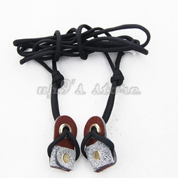 Wholesale Recurve Hunting Bow - Archery Recurve Bow String Longbow Stringer Black Leather Tip +Nylon Cord 2M