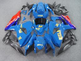 Wholesale Rizla K9 - Injection fairing kit for SUZUKI GSXR 1000 09 10 GSX-R RIZLA blue GSXR 1000 K9 2009 2010 ABS trim set