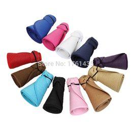 Wholesale Ladies Visors Wholesale - Wholesale-2015 New Fashion Summer Hats For Women Lady Foldable Roll Up Sun Beach Wide Brim Straw Visor Cap