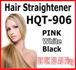 Wholesale Hair Straightening Straightener Flat Iron - 2016 hot HQT-906 Hair Straightener Flat Iron Hair irons fast Straightening Brush Hair Styling comb Beautiful Star pink white US EU UK AU