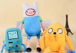 Wholesale EMS Free Styles Cartoon Adventure Time with Finn and Jake Plush toy NEW children BMO Stuffed dolls super cute gift B