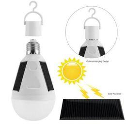Wholesale E27 Rechargeable - E27 12W Solar Lamp 85-265V Energy Saving Light LED Intelligent Lamp Rechargeable Solar Emergency Bulb Daylight CCA8107 30pcs