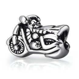 Wholesale Bike Charms - New! Wholesale Motorcycle Bike Charm 925 Sterling Silver European Charm Bead Fit DIY Snake Chain Bracelet Bangle Jewelry