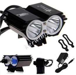 Wholesale Cree Solarstorm Light - Solarstorm Bike lights headlamp Headlight 2x CREE U2 LED 2000LM Front Bicycle Light Bike Outdoor Flash Lights +Battery Pack+Charger