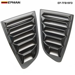 Wholesale Hydro Dip - EPMAN -NEW Stying 2PCS SET 2015-2018 Ford Mustang Carbon Fiber Louvers Window Scoop Vents Hydro-dipped EP-TFB15FD