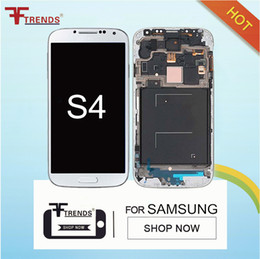 Wholesale Display Screen Galaxy S4 - For Samsung Galaxy S4 i9500 i9505 I545 I337 M919 L720 R970 i9506 LCD Display with Touch Screen Digitizer Assembly ( brightness adjustment)