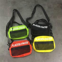 Wholesale Fashion Waist Packs - Places + Faces Cross Body Hip Hop Bag Outdoor Pack Chest Pack Unisex Fanny Pack Waist Bag Men Canvas Shoulder Bags P+F Messenger Bags