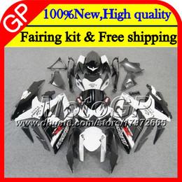 Motos corona gsxr online-Cuerpo para SUZUKI GSXR750 08 09 10 K8 GSXR 600 Blanco CORONA 08 10 26GP7 GSX-R750 GSX-R600 GSXR 750 GSXR600 2008 2009 2010 Motorcycle Fairing