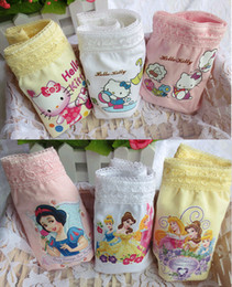 Wholesale Girls Princess Underwear - Lace Kids Girls Underwear Cartoon Hello Kitty Princess Cotton Children's Briefs Panties Little Girl Underpants Fashion Summer Clothing