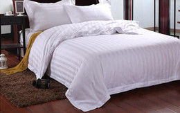 Wholesale Hotel Quilt Cover - Hotel bedding Four suite of hotel guest rooms Cotton 3cm Satin sheet Quilt cover Pillowcase