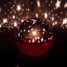 Wholesale Led Light Projectors Sale - 2015 New Top sale Rotation Night Projector Light Lamp Star Sky Romantic Fairy Four Color Favorite gift Festive atmosphere nightlights