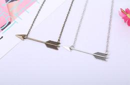Wholesale Fortune Necklace - 2016 hot sales Minimalist necklaces Jewelry Dainty Vintage Fortune Arrow Chain Necklaces pendants 50pcs lot