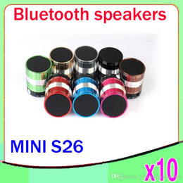 Wholesale Usb Cannon - Heavy Bass speakers S26 Portable MINI Bluetooth Wireless Cannon MP3 Player MIC Hand-free TF Card USB for S3 S4 iPhone 10pcs ZY-YX-02
