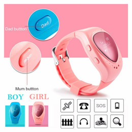 Wholesale Sos Panic - Smart Watch Kids Children GPS Tracker Watch with SOS panic button GSM phone support Android IOS with Google map