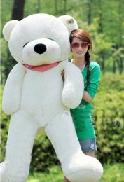 Wholesale Teddy Bears Inches - New Style Giant 200CM 78''inch TEDDY BEAR PLUSH HUGE SOFT TOY Plush Toys Valentine's Day gift Sleepy Bear 2m Squinting Bear white