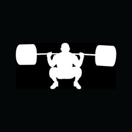 Wholesale Door Trainer - Wholesale Car Stickers Wholesale Weight Lifting Sticker Gym Trainer Heavy Workout For Car Window Decal
