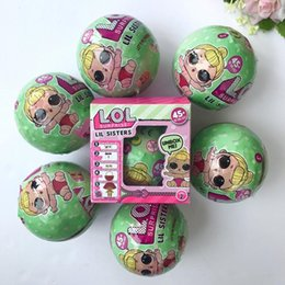 Wholesale Plastic Egg Packaging - 2017 Christmas Gift LOL Lil Sisters Series 2 Dress Up Toys Baby Can Spray Egg Girls Baby Dolls LOL Surprise Dolls With Package