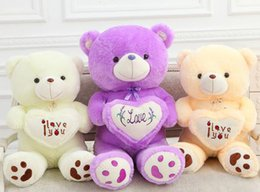 Wholesale Cheap Love Dolls - 110cm 1.1m 43 inch 43'' Teddy Bear Plush Toys I Love You Teddy Bears Stuffed Animals dolls heart baby toy Christmas gift cheap