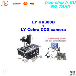Wholesale Motherboard Air - Ship from UK, free tax!lead-free hot air motherboard chips weilding machine HR380B,BGA machine+cobra CCD camera with 8'' monitor