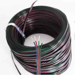 Wholesale Rgb Cable Led - 200M lot 4pin cable led accessaries use for 5050 3528 SMD RGB led strip connect cable