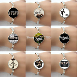 Wholesale Picture Choose Fashion - One Piece Free Shipping My Chemical Romance Picture Glass Dome Charm Bracelet models for choose Fashion Musical Rock Men Jewelry