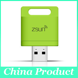 Wholesale Wholesale China Android Mobile - Zsun Wireless Wifi Card Reader Extended Phone Memory U Disk Mobile Storage USB Flash Drive For Android IOS Windows Phone 010073
