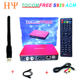 Wholesale Tuner Digital S2 - TOCOMFREE S929 ACM H.265 With WiFi Digital Satellite Receiver DVB-S2 Twin Tuner IKS SKS IPTV better than TOCOMFREE S989
