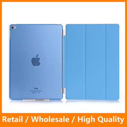 Wholesale Slim Magnetic Front Smart Ipad - Ultra Slim Front Leather Protector + Magnetic Clear PC Hard Case with Stand Flip Function for Apple Tablet iPad Mini 4